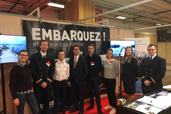 Armateurs de France et l'ENSM au Salon de l'Étudiant de Paris 2019