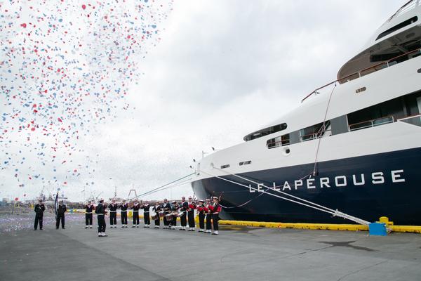 Ponant inaugure Le Lapérouse, un navire innovant battant pavillon français